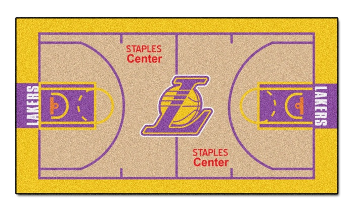 Los Angeles Lakers 2'x4' Printed Runner Rug: Los Angeles Lakers 2'x4' Printed Runner Rug