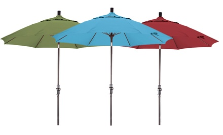 groupon daily deal - California Umbrella 9ft. Fiberglass Patio Umbrella. Multiple Colors Available. Free Returns.