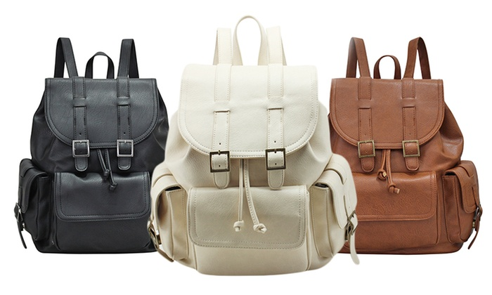 Women's Vegan Leather Backpack | Groupon Goods