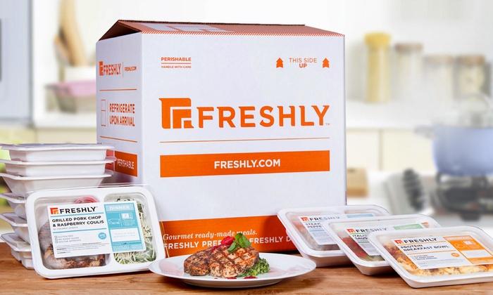 Freshly: 6, 9, 12, 21 Gourmet Prepared Meals from Freshly ( 52% Off )