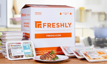 6, 9, 12, 21 Gourmet Prepared Meals from Freshly (Up to 52% Off)