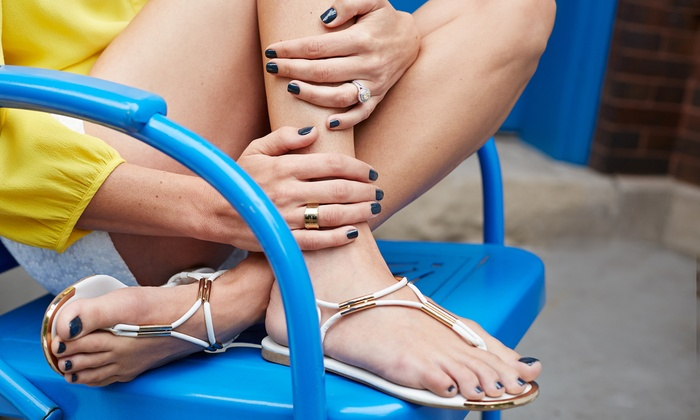 Shear Splendor Hair Boutique & Spa - Shear Splendor: One or Three Mani-Pedis at Shear Splendor Hair Boutique & Spa (Up to 57% Off)