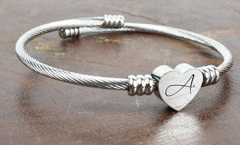 Personalised Name Heart Bracelet