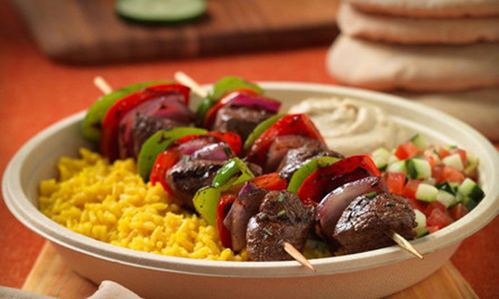 Garbanzo Mediterranean Grill - Oklahoma City: Mediterranean Cuisine for Two or Three at Garbanzo Mediterranean Grill (Up to 52% Off)