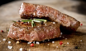 Bazil Brasserie: Sirloin or Rib-Eye Steak Meal with Wine for Up to Four at Bazil Brasserie