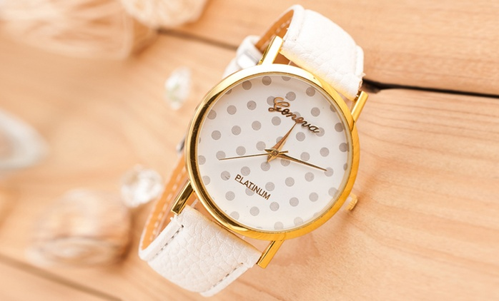 Analogue Fashion Polka-Dot Watch in Choice of Colour for £6.98 (30% Off)