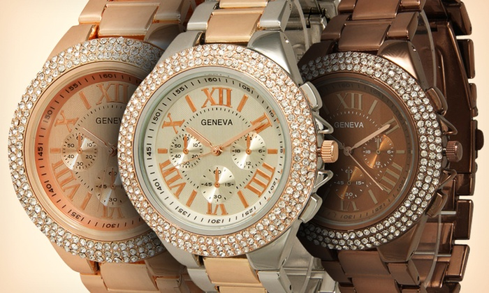 Geneva Women's Assorted Boyfriend Watch: $15.99 for a Geneva Assorted Boyfriend Watch ($49.99 List Price). Multiple Colors. Free Shipping and Returns.