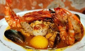 Saveurs de Provence: La bouillabaisse auxpoissons et crustacés, option dessert, pour 2 personnes dès 44 € au restaurant Saveurs de Provence