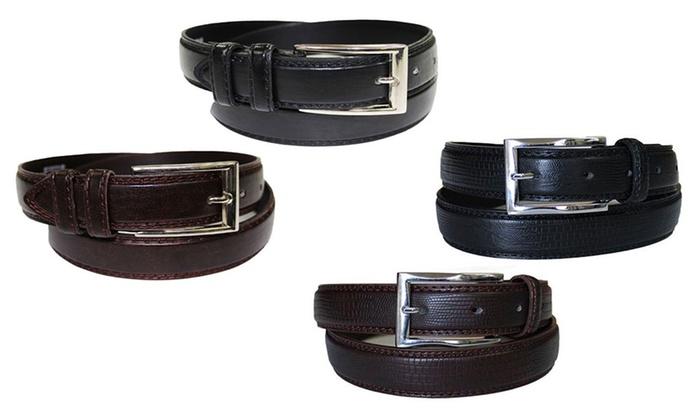 Men's Leather Dress Belts (2-Pack)