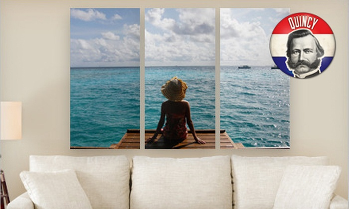 """Personalized Triptych PhotoSplits: Canvas on Demand 36""""x24"""" or 45""""x30"""" Triptych PhotoSplit (Up to 80% Off). Free Shipping."""