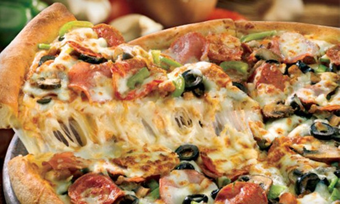 Papa John's Pizza - Multiple Locations: Pizza and Drinks at Papa John's Pizza (Half Off). Three Options Available.
