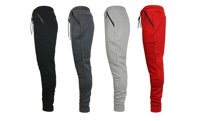 Men's Bonded Fleece Slim-Fit Joggers (2-Pack)