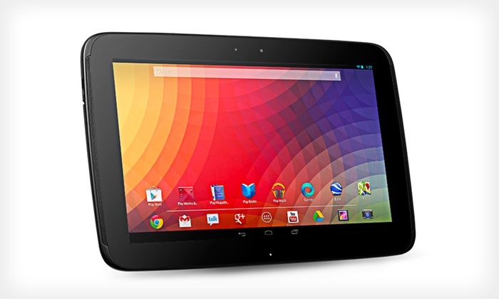 """Google Nexus 10 32GB Tablet with 10"""" Touchscreen and 2GB RAM: $429.99 for a Google Nexus 10 32GB Tablet (Refurbished) ($499.99 List Price). Free Shipping and Free Returns."""