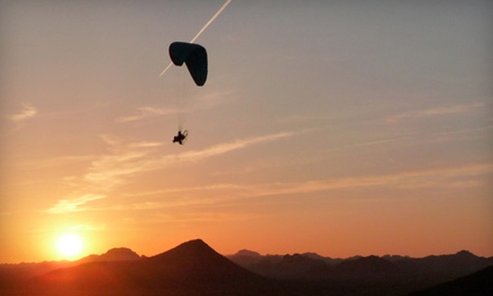 Paragliding Unlimited - Grantfork: Power-Paragliding Tandem Lesson with or without DVD or One-Day Lesson at Paragliding Unlimited in Pierron (Up to 51% Off)