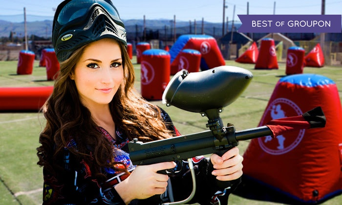 Paintball International - CJ's Paintball Park: All-Day Paintball Package for 4, 6, or 12 with Equipment Rental from Paintball International (Up to 69% Off)