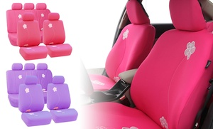 Flower Embroidery Airbag-compatible Auto Seat Covers