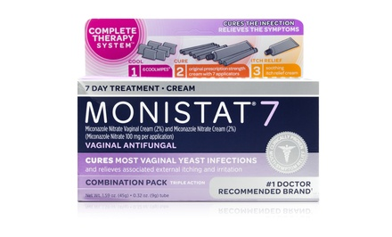 Monistat 7 Antifungal Triple-Action Treatment; 4-Pack of 1-Treatment Boxes + 5% Back in Groupon Bucks