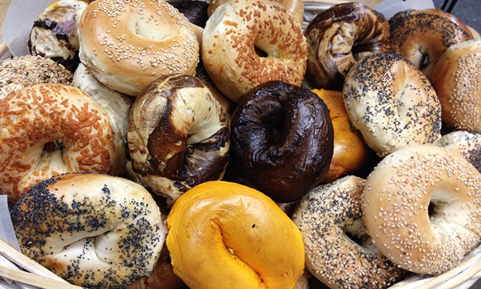 The Bagel Shoppe - Fishkill: One-Dozen Bagels and Two Medium Tubs of Cream Cheese (55% Off)