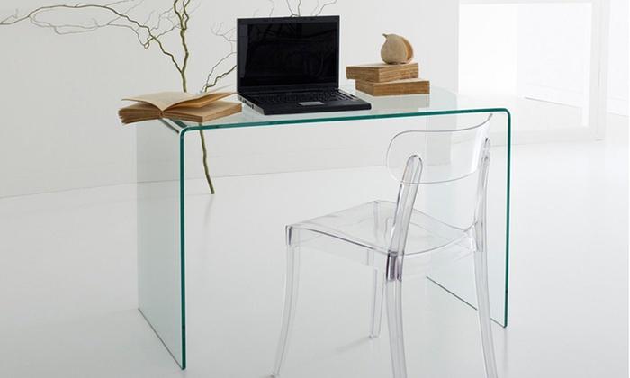 scrivania in cristallo groupon goods