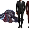 Braveman Slim Fit Suits with Tie in Extended Sizes