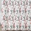Leaf Print 13-Piece PEVA Shower Curtain Set with Hooks