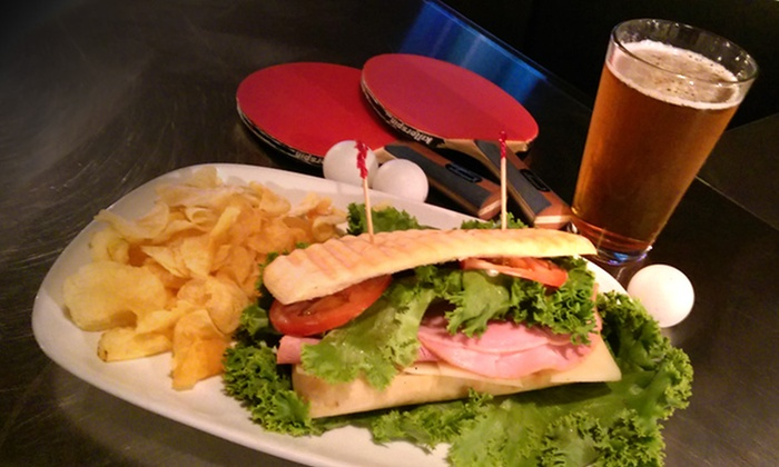 Hop21 - Downtown West: $15 for $30 Worth of Food, Drinks and Ping Pong at Hop21