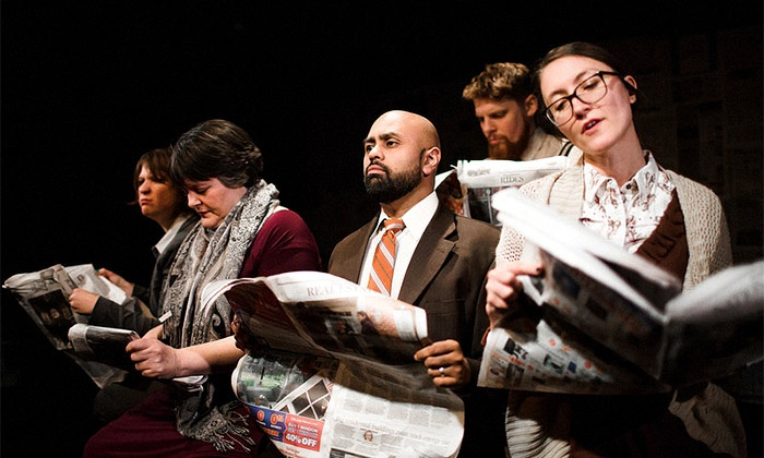 """The Neo-Futurists presents """"Redletter"""" - The Neo-Futurarium: """"Redletter"""" at The Neo-Futurarium on March 6–28 (Up to 45% Off)"""
