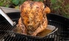 Stainless Beer-Can Chicken Rack with Removable Handle: Stainless Beer-Can Chicken Rack with Removable Handle