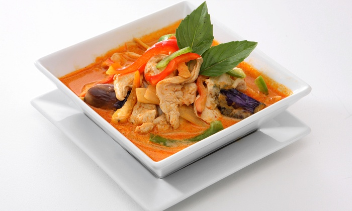 Charmthai Restaurant - Foggy Bottom - GWU - West End: Thai Meal with Entrees and Appetizers for Two or Four People at Charmthai Restaurant (Up to 49% Off)