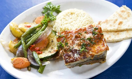 Greek Dinner Entrees at Tasso's (45% Off). Two Options Available.