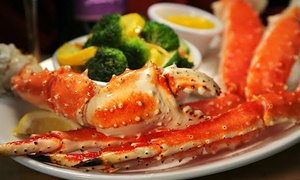 Bistro 1902: All-You-Can-Eat Snow Crab for Two or Four with Wine, Valid Mon–Thurs or Any Day at Bistro 1902 (Up to 53% Off)