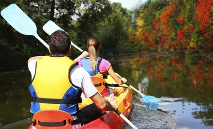 Full-Day Youth, Adult, or Double Foliage Kayak Rental from Amazing Grace Marina, Outfitters and River Run (Up to 60% Off)