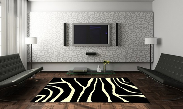 teppich kuh oder zebrafell look groupon goods. Black Bedroom Furniture Sets. Home Design Ideas
