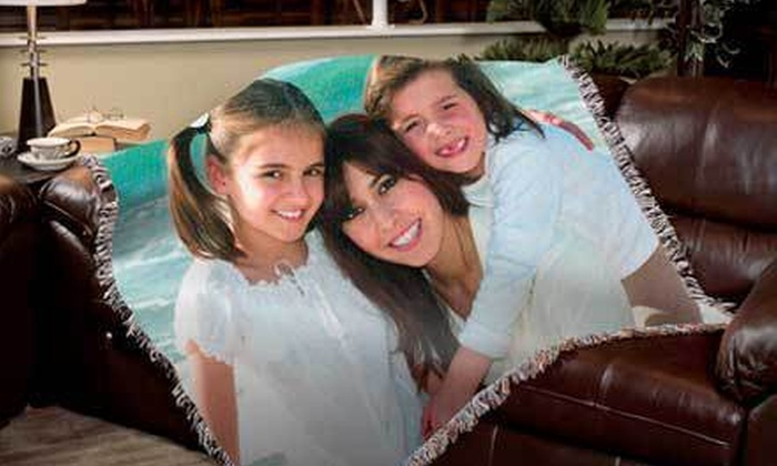 """PhotoWeavers: $59 for a Custom 70""""x53"""" Photo Blanket with Shipping from PhotoWeavers ($129 Value)"""