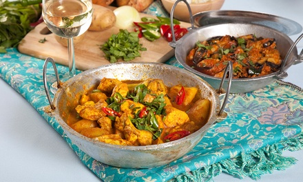 ThreeCourse Indian Dinner with Wine for Two $35, Four $69 or Six People $99 at Mirchi Tadka Up to $311.70 Value