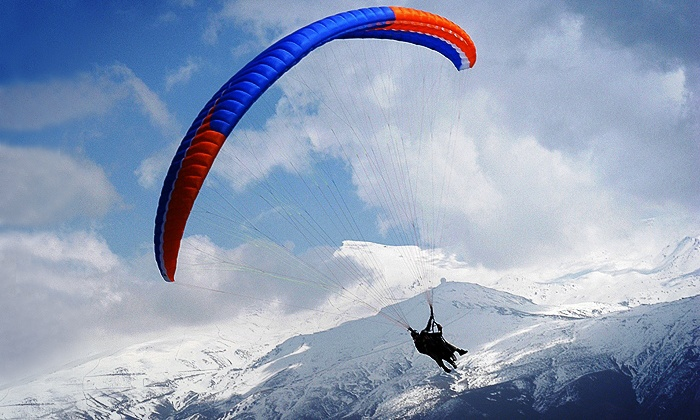 FlyBC Paragliding - Harrison Mills, BC: C$99 for Tandem Paragliding with Helmet and Jump Video from FlyBC Paragliding (C$200 Value)