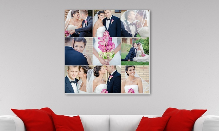 Canvas Champ: Custom Mosaic Photo Print on Canvas from Canvas Champ (Up to 72% Off). Five Options Available.