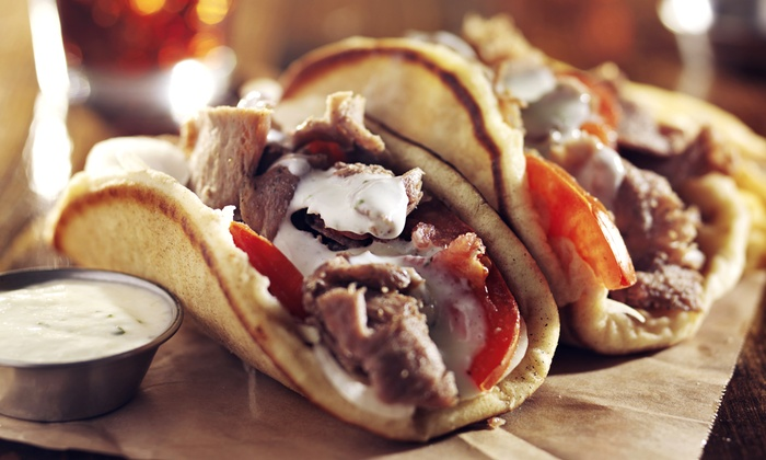 Helios Greek Grill - Canyon: $12 for Two Groupons, Each Good for $10 Worth of Food for Two or More at Helios Greek Grill ($20 Value)