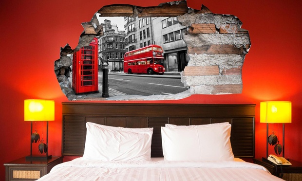 t te de lit sticker 3d groupon shopping. Black Bedroom Furniture Sets. Home Design Ideas