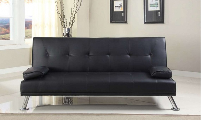 claviere italian style sofa bed groupon goods