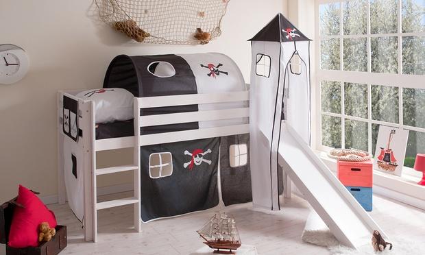 lit sur lev pour enfant avec accessoires groupon. Black Bedroom Furniture Sets. Home Design Ideas