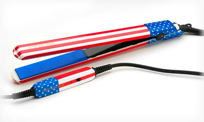 "Corioliss American Flag Ceramic 1"" Flat Iron: $29.99 for a Corioliss American Flag 1"" Ceramic Flat Iron ($175 List Price). Free Shipping and Returns."