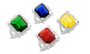 12.00 Ctw Halo Ring With Swarovski Elements