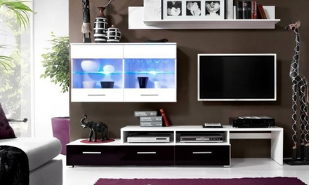 meuble tv ou ensemble mural groupon shopping