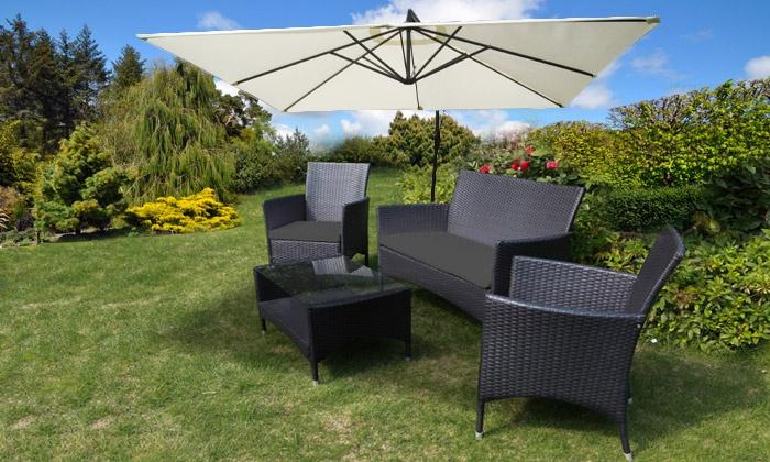 salon de jardin panama groupon. Black Bedroom Furniture Sets. Home Design Ideas