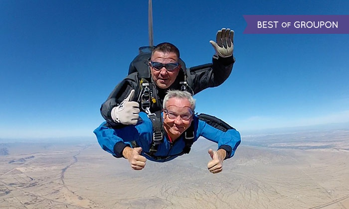Skydive Phoenix - Skydive Phoenix: Tandem Skydive Package for One, Two or Four with T-Shirt at Skydive Phoenix (Up to 27% Off)