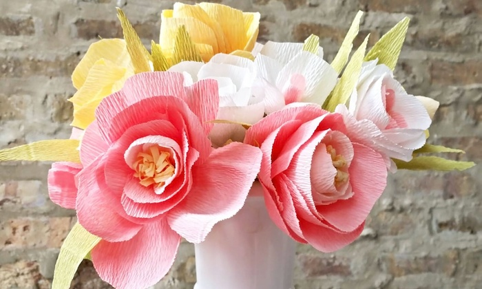 Bee Home and Garden - Oak Park: BYOB Italian Crepe Paper Flower Workshop for One or Two at Bee Home and Garden (Up to 50% Off)