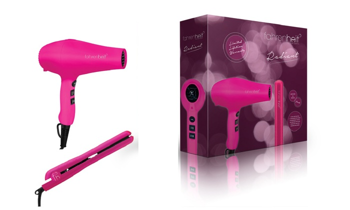 Fahrenheit Radiant Gift Set With Dryer And Flat Iron