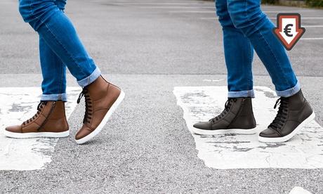 Zapatillas altas de cuero para hombre Redfoot