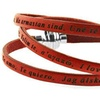 """Leather Wrap Bracelet with Embossed Translations of """"I Love You"""""""